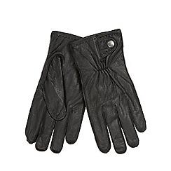 RJR.John Rocha - Designer black grained leather gloves