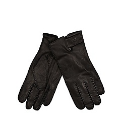 RJR.John Rocha - Designer black leather touchscreen gloves