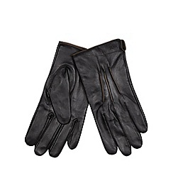 RJR.John Rocha - Designer black leather two toned gloves