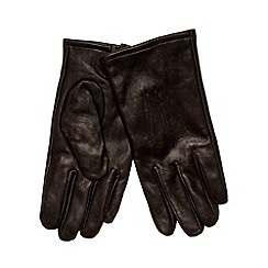 Jeff Banks - Designer black leather faux fur lined gloves