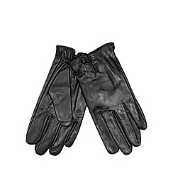 Jeff Banks - Designer black leather driving gloves