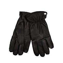 RJR.John Rocha - Designer black stud detail leather gloves