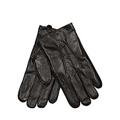 RJR.John Rocha - Designer black leather whip stitch gloves