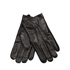 RJR.John Rocha - Designer black leather whip stitch gloves
