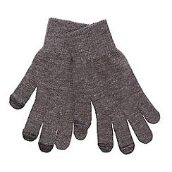 Red Herring - Dark grey touch screen gloves