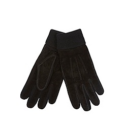 Maine New England - Black suede gloves