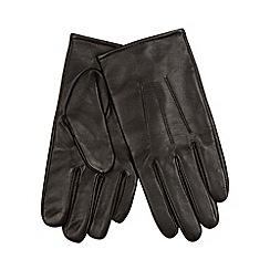 Maine New England - Dark brown leather gloves