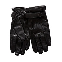 Jeff Banks - Designer black leather gloves