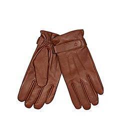 Jeff Banks - Designer tan leather gloves