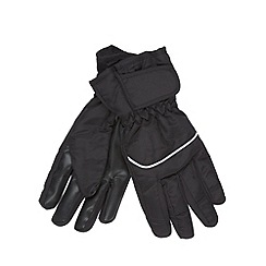 Maine New England - Black fleece lined ski gloves