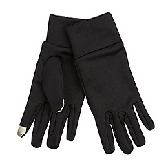 Maine New England - Black microfibre touch screen stretch gloves