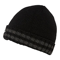 Maine New England - Black Thinsulate ribbed tipped beanie