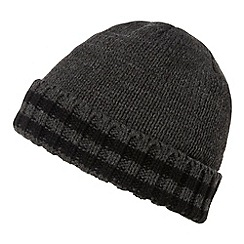 Maine New England - Grey Thinsulate  ribbed tipped beanie