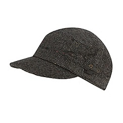 RJR.John Rocha - Designer grey herringbone train driver hat
