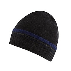 Jeff Banks - Designer dark grey tipped beanie hat