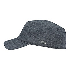J by Jasper Conran - Designer dark grey fleece lined train driver hat