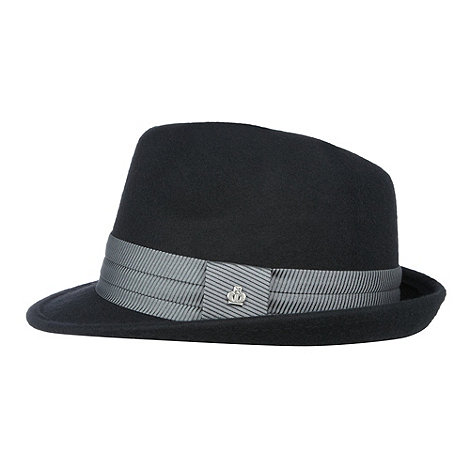 Striped Band Trilby Hat