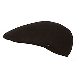 Osborne - Black moulded wool flat cap