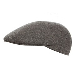 Osborne - Grey moulded wool flat cap