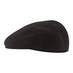 Osborne - Black moulded cord flat cap