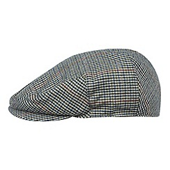 Osborne - Green wool blend checked flat cap