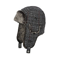 RJR.John Rocha - Designer grey checked Harris tweed trapper hat