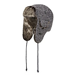 RJR.John Rocha - Designer grey knitted faux fur trapper hat