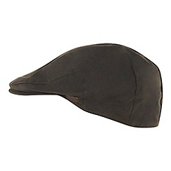 RJR.John Rocha - Designer dark green waxed cotton flat cap