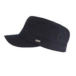 J by Jasper Conran - Designer navy melton train driver hat