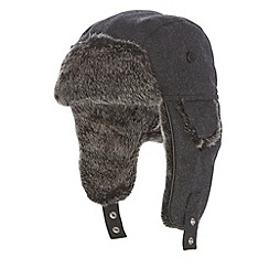 J by Jasper Conran - Designer grey wool trapper hat