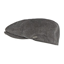 J by Jasper Conran - Designer grey cross ribbed flat cap