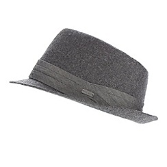 J by Jasper Conran - Designer grey herringbone wool trilby