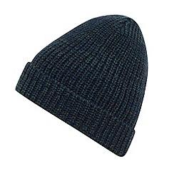 Red Herring - Blue hidden stripe knitted beanie hat