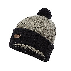 Mantaray - Grey speckled cable knit bobble hat