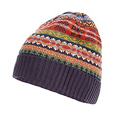 Mantaray - Navy fairisle knitted beanie