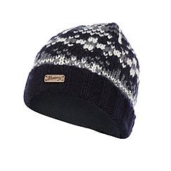 Mantaray - Navy fairisle knitted beanie hat