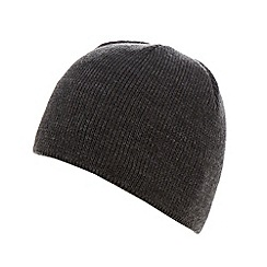 Maine New England - Dark grey fleece lined beanie hat