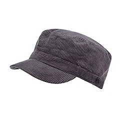 RJR.John Rocha - Designer grey fleece lined cord train driver hat