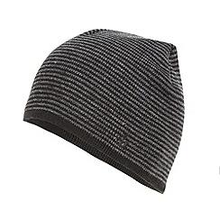 Jeff Banks - Designer black fine striped beanie