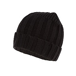 Maine New England - Black ribbed knit beanie hat