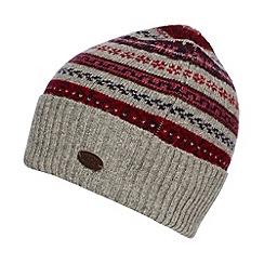 Hammond & Co. by Patrick Grant - Designer grey fairisle wool rich beanie hat
