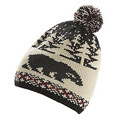 Red Herring - Black Christmas polar bear bobble hat