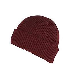 Red Herring - Dark red ribbed beanie