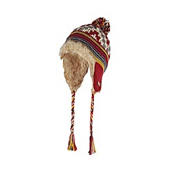 Mantaray - Red aztec trapper hat