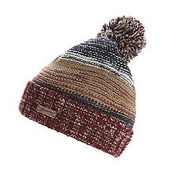 Mantaray - Blue wide striped knit bobble hat