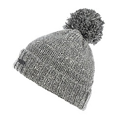 RJR.John Rocha - Designer grey knitted wool blend bobble beanie hat