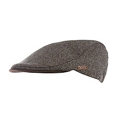 RJR.John Rocha - Designer brown mini herringbone flat cap
