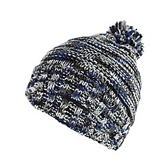 Red Herring - Blue space dye knitted bobble hat
