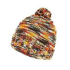 Red Herring - Orange spacedye knitted bobble hat
