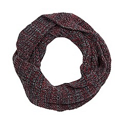 Red Herring - Dark grey space dye knit snood